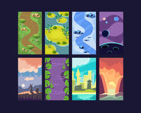 Game Background Vector Seamless. Set Stock Photo