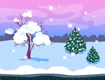 Game Background Winter Forest Stock Photos