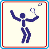 Game badminton, icon, isolated  icon. Game badminton iicon, isolated Royalty Free Illustration