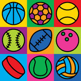 Game Ball Icons Stock Image