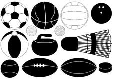 Game balls Royalty Free Stock Photography