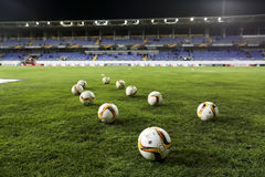 The game balls of UEFA Europa League game between Qabala and PA Royalty Free Stock Photos