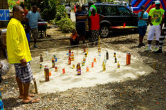 A game being played at an annual event in the windward islands Royalty Free Stock Photo