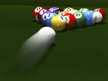 The game of billiards Stock Photography