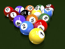 The game of billiards Stock Image