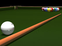 The game of billiards Stock Photos