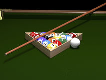 The game of billiards Royalty Free Stock Images