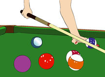 A game of billiards Royalty Free Stock Photo