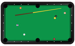 Game of billiards Royalty Free Stock Image