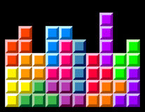Game blocks. Retro computer classic game blocks royalty free illustration