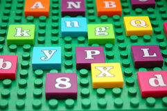 Game board. With various letters stock photos