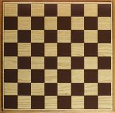 Chess or draught checker game board. Game board for playing draughts checkers or chesses royalty free stock image