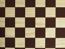 Chess or draught checker game board. Game board for playing draughts checkers or chesses stock image