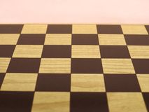 Chess or draught checker game board. Game board for playing draughts checkers or chesses stock images