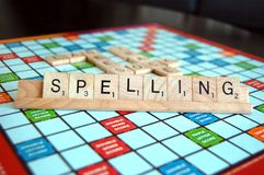 Free Game Board With The Word Spelling Royalty Free Stock Image - 168456036