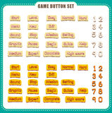 Game Button with event. vector illustration Royalty Free Stock Photography