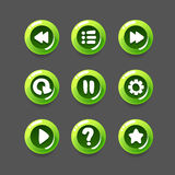 Game Button Set Royalty Free Stock Photos