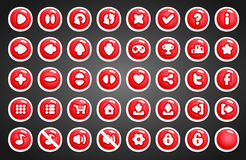 Game buttons in cartoon style Royalty Free Stock Photography