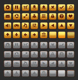 Game buttons GUI pack pack Stock Photo