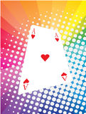 Game card. Vector illustration of game card with colored background Stock Photography