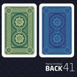 Card Back Abstract Pattern Background Underside. Game Card Back Abstract Pattern Background Underside Stock Image