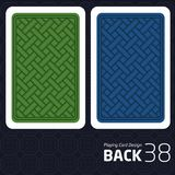 Card Back Abstract Pattern Background Underside. Game Card Back Abstract Pattern Background Underside Stock Photo