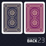 Card Back Abstract Pattern Background Underside. Game Card Back Abstract Pattern Background Underside Royalty Free Stock Image