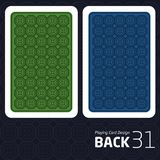 Card Back Abstract Pattern Background Underside. Game Card Back Abstract Pattern Background Underside Stock Photos
