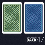 Card Back Abstract Pattern Background Underside. Game Card Back Abstract Pattern Background Underside Stock Images
