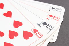 Game card on black background Stock Images