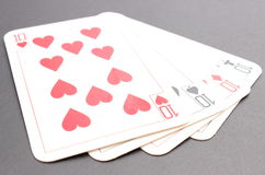 Game card on black background Stock Image