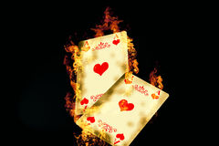 Game Card. Burning Came Card Poker Game Stock Photography