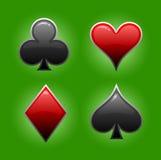 Game of card symbols Stock Photos
