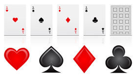 Game cards  Royalty Free Stock Photos
