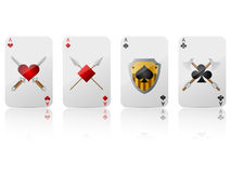 Game cards. Vector game cards ace set Stock Photography