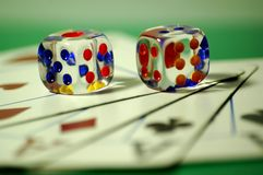 Game cards. Game, cards, the gambling house, a casino, cubes stock images