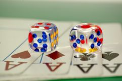 Game cards. Game, cards, the gambling house, a casino, cubes stock photo