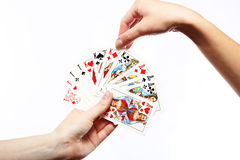 Game of cards Stock Images
