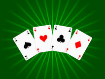 Game cards background Royalty Free Stock Photography