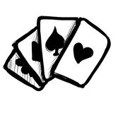 Game cards fast doodle sketch Royalty Free Stock Photos