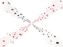 Game cards flying . Isolate on white background Royalty Free Stock Image