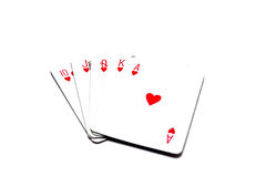 Game cards isolated Stock Photography