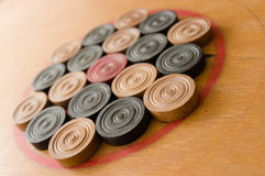 A game of carom set and ready to play Royalty Free Stock Image