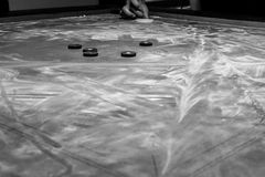 Game Of Carrom stock photo