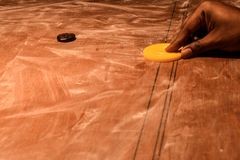 A Game Of Carrom stock photography