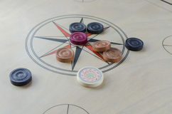 A game of carrom Royalty Free Stock Photos