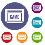 Game cartridge icons set Stock Image