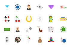Game of chance  icons set Royalty Free Stock Photo