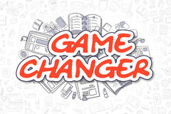Game Changer - Doodle Red Text. Business Concept. Royalty Free Stock Image