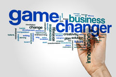 Game changer word cloud Royalty Free Stock Photos